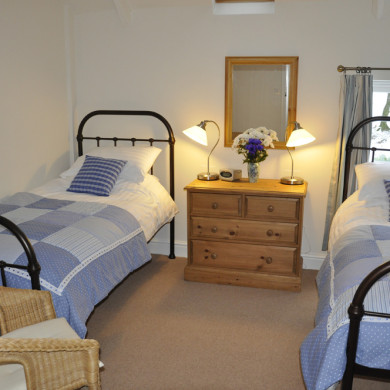 Bedroom in Manor Bedw Holiday Cottage near Narberth Pembrokeshire