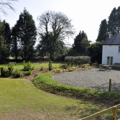 Manor Bedw Holiday Cottage garden near Narberth Pembrokeshire