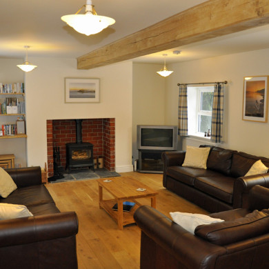 Sitting Room in Holiday Cottage near Narberth in Pembrokeshire