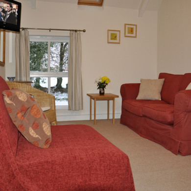 Sitting Room in main bedroom in Manor Bedw Holiday Cottage near Narberth Pembrokeshire