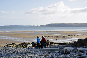 The beach at Amroth