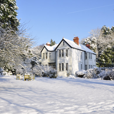 Manor Bedw in the snow, Bed & Breakfast near Narberth in Pembrokeshire
