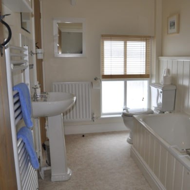 Bathroom in Manor Bedw Holiday Cottage near Narberth Pembrokeshire