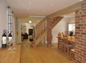 Kitchen & Dining Room in Manor Bedw Holiday Cottage near Narberth Pembrokeshire