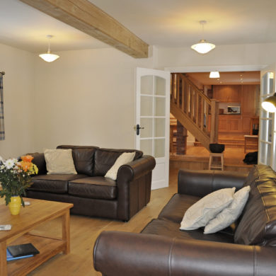 Sitting Room in Manor Bedw Holiday Cottage near Narberth Pembrokeshire